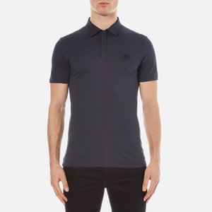 Versace Collection Men's Small Medusa Polo Shirt - Blu Notte