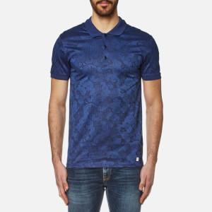 Versace Collection Men's Patterned Polo Shirt - Bluette