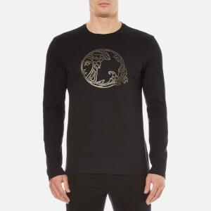 Versace Collection Men's Round Logo T-Shirt - Nero