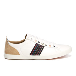 PS by Paul Smith Men's Osmo Leather Trainers - White Mono Lux