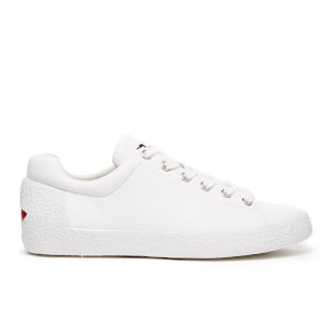 Ash Women's Nicky Adria Colour/Nappa Wax Trainers - White/Red