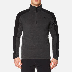 The North Face Men's Glacier Delta 1/4 Zip Fleece - TNF Dark Grey Heather