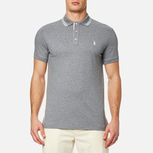 Polo Ralph Lauren Men's Custom Fit Tipped Polo Shirt - Vesper Grey