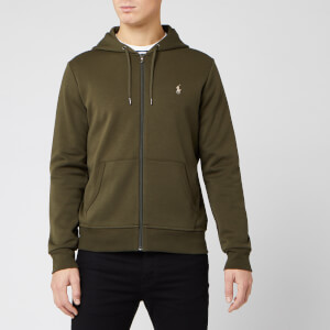 Polo Ralph Lauren Men's Double Knit Full Zip Hoodie - Company Olive