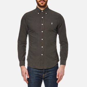 Polo Ralph Lauren Men's Garment Overdye Slim Fit Shirt - Charcoal