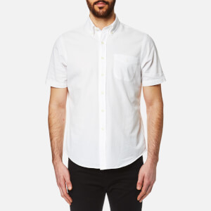 Polo Ralph Lauren Men's Seersucker Short Sleeve Shirt - White