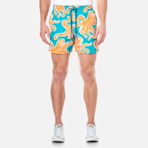 Vilebrequin Men's Moorea Octopussy Swim Shorts - Kumquat