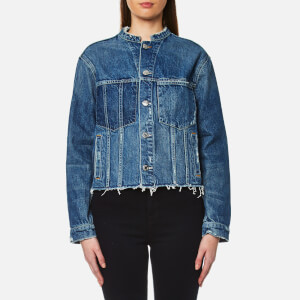 Helmut Lang Women's Ghost Wash Denim Jacket - Light Blue