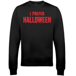 I Prefer Halloween Christmas Sweatshirt - Schwarz