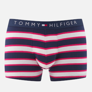 Tommy Hilfiger Men's Stripe Trunk Boxers - Raspberry