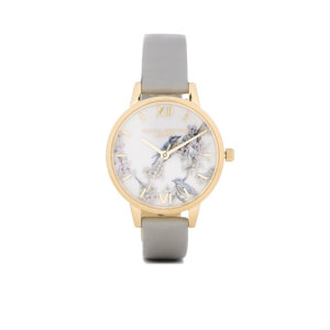 Olivia Burton Women's Blossom Birds Grey Watch - Rose Gold