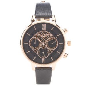 Olivia Burton Women's Big Dial Chrono Watch - Black