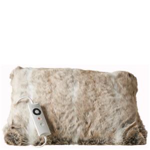 Dreamland Relaxwell 16332 Intelliheat Luxury Heated Faux Fur Cushion - Alaskan Husky