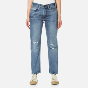 Levi's Women's Orange Tab 505 C Cropped Jeans - Heat Stroke