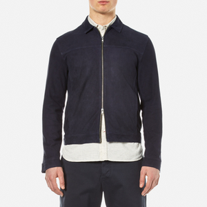 Oliver Spencer Men's Suede Buck Jacket - Navy Suede