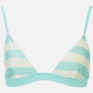 Solid & Striped Women's The Morgan Bikini Top - Aqua/Cream Stripe