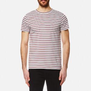 A.P.C. Men's Lane Striped T-Shirt - Gris Clair