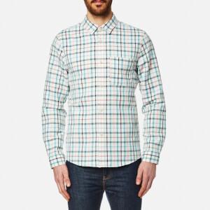 A.P.C. Men's Surchemise Trevor Checked Long Sleeve Shirt - Ecru