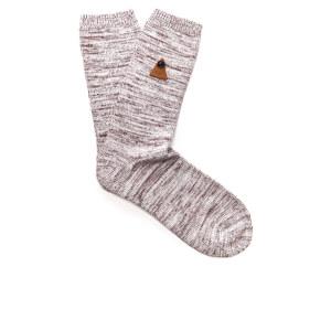 Folk Men's Socks - Burgundy Melange