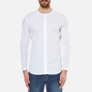 Folk Men's Collarless Shirt - White
