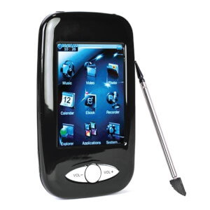 "Eclipse 4GB MP3 USB 2.0 2.8"""" Touchscreen Digital Music/Video Player & Voice Recorder with Camera"