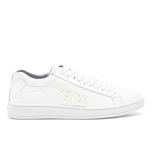 KENZO Men's Tennix Leather Cupsole Trainers - White