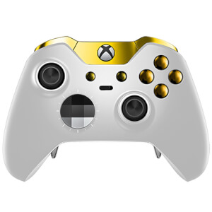 Manette sans fil Custom Elite Xbox One -Gris et Or