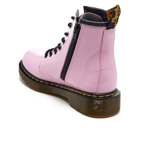 Dr. Martens Kids' Delaney Patent Lamper Lace Boots - Baby Pink: Image 4