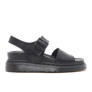 Dr. Martens Women's Fusion Romi Y Strap Sandals - Black Pebble Leather
