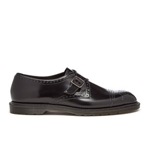 Dr. Martens Men's Henley Cobden Monk Strap Shoes - Black Polished Smooth