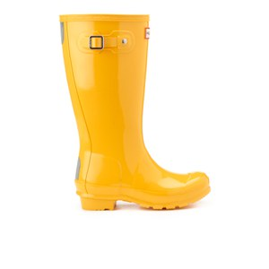 Hunter Kids' Original Gloss Wellies - Sunlight