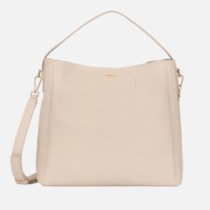 Furla Women's Capriccio Medium Hobo Bag - Acero