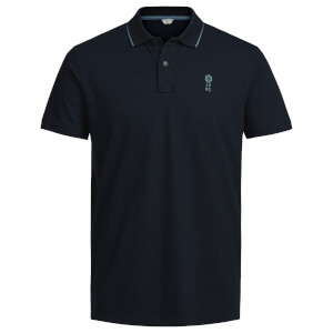 Jack & Jones Men's Core Stone Polo Shirt - Sky Captain