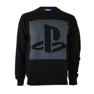 PlayStation Men's Block Logo Sweatshirt - Black