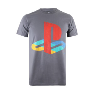 PlayStation Retro Logo Männer T-Shirt - Charcoal