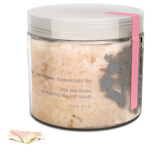 Red Flower Japanese Peony Isla Das Rocas Revitalizing Sea Salt Scrub