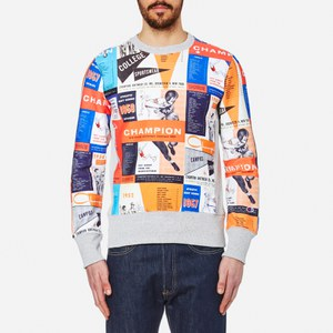 Champion Men's Reverse Weave All Over Print Sweatshirt - Multi