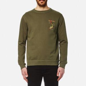 Maharishi Men's Integrated Crew Sweatshirt - Maha Olive