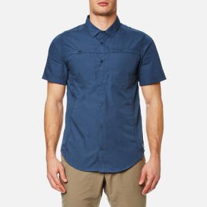 Craghoppers Men's Kiwi Trek Short Sleeve Shirt - Vintage Indigo