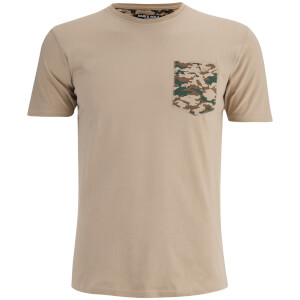 Brave Soul Men's Pulp Camo Pocket T-Shirt - Stone