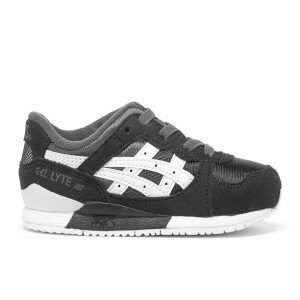 Asics Toddlers' Gel-Lyte III Mesh Trainers - Dark Grey/White