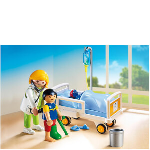 Playmobil aerztin am kinderkrankenbett (6661)