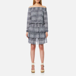 MICHAEL MICHAEL KORS Women's Zephyr Reptile Dress - True Navy