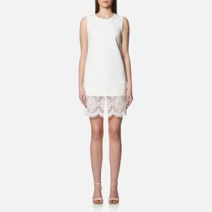 McQ Alexander McQueen Women's Hybrid Short Lace Dress - Ivory
