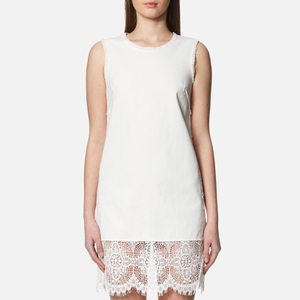 McQ Alexander McQueen Women's Hybrid Short Lace Dress - Ivory