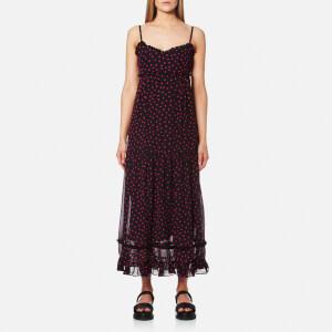 McQ Alexander McQueen Women's Ruffle Slip Dress - Black