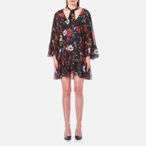 McQ Alexander McQueen Women's V Neck Short Volume Dress - Acid Floral