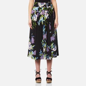 Diane von Furstenberg Women's D Ring Midi Skirt - Curzon Black