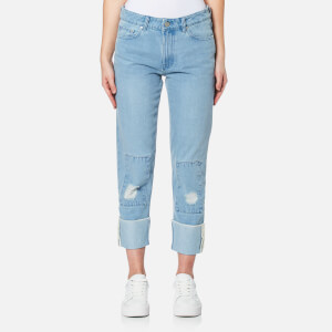 Waven Women's Aki True Boyfriend Jeans - Allie Blue Patches