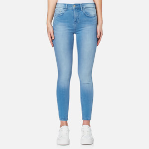 Waven Women's Freya Classic Skinny Ankle Grazer Jeans - Ice Blue